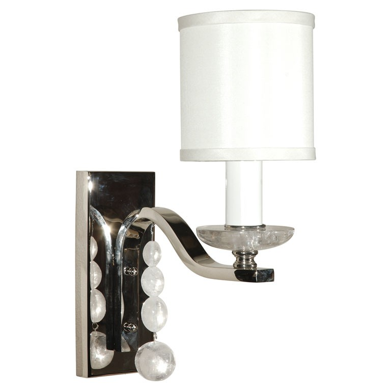 Wall Sconce With Crystal Ball : Glass Ball Sconce with Rock Crystal - Wall Lights & Sconces - lighting