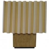 Modern Distressed Oak Table Lamp