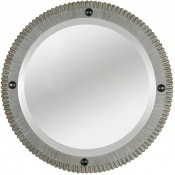 Gear Style Mirror in Strie Finish