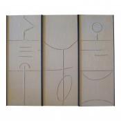 Art Wall Panels Gesso Triptych