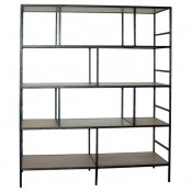 Bookcase in Iron Faux Bois