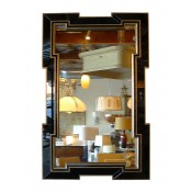 Greek Key Mirror with Black MIrror Border