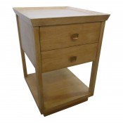 Two-Tier Nightstand in Rift Sawn Oak Natural Finish