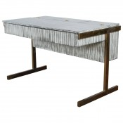 Writing File Desk in Gray Zebra Finish