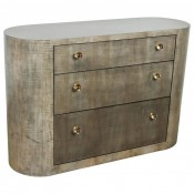 Italian Inspired 1970s Style Rounded Chest of Drawers