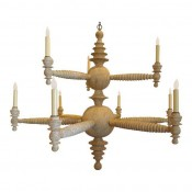 Spool Chandelier Two Tier