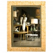 Suede & Velvet Mirror