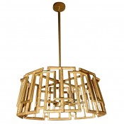 Trellis Chandelier in Gold Leaf