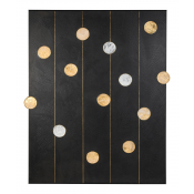 Art Wall Panel with Texture and Rock Crystal