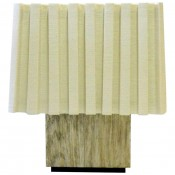 Modern Distressed Silver Oak Table Lamp