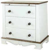 European Style Chest in Opaline Glass
