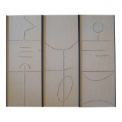 Art Wall Panels Gesso Triptych