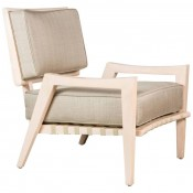 Low Lounge Chair in Bleached Maple