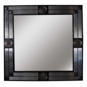 Medallion Mirror with Ribbed Glass