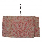 Modern Draped Chandelier in Hand-Sewn Vintage Fortuny