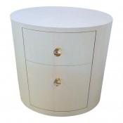 Italian Inspired 1970s Style Oval Nightstand