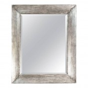 Distressed Silvered Framed Mirror