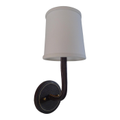 Leather Wrapped Top-Stitched Sconce - Brown