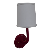 Leather Wrapped Top-Stitched Sconce - Red