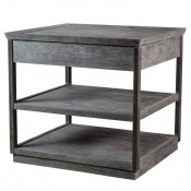 Two-Tier Nightstand in Distressed Finish