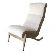 Slipper Chair in Bleached Walnut