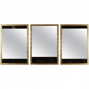 Black and Clear Glass Mirrors
