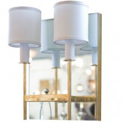 Mirror Back Sconce Two-Arm in Brass